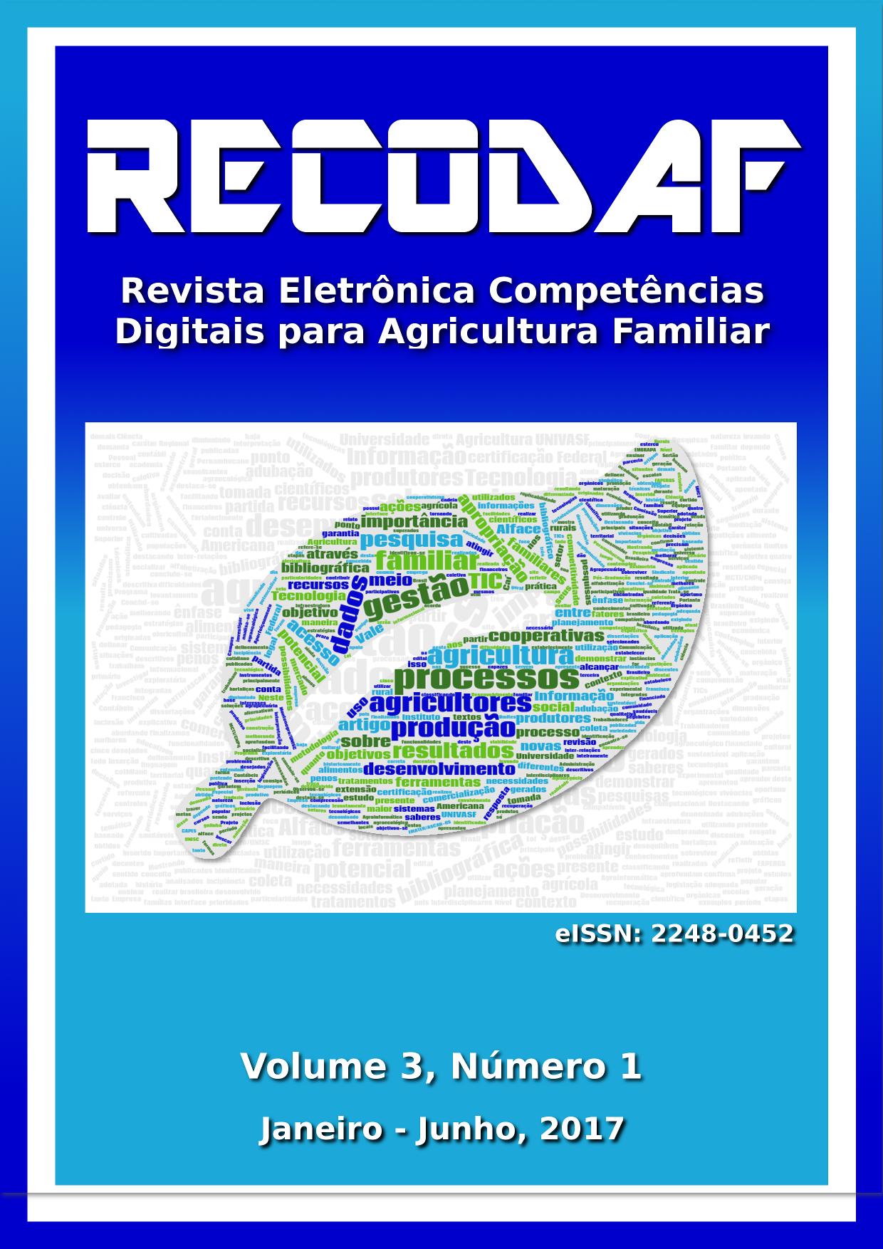Capa da RECoDAF, volume 3, número 1 do ano de 2017.
